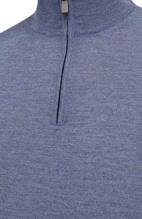 Мужской шерстяной джемпер CANALI голубого цвета, арт. C0015/MK00077 | Фото 5