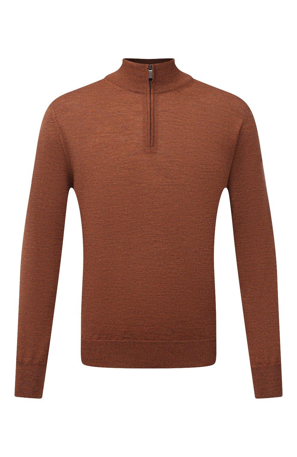 Мужской шерстяной джемпер CANALI коричневого цвета, арт. C0015/MK00077 | Фото 1