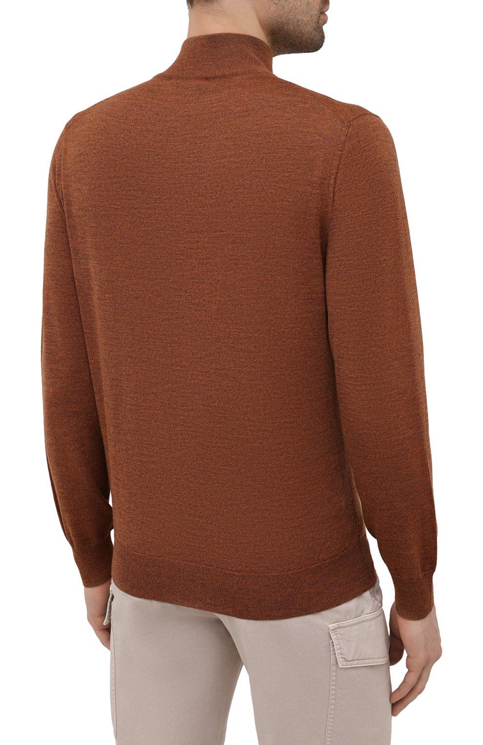 Мужской шерстяной джемпер CANALI коричневого цвета, арт. C0015/MK00077 | Фото 4