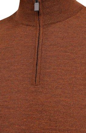 Мужской шерстяной джемпер CANALI коричневого цвета, арт. C0015/MK00077 | Фото 5