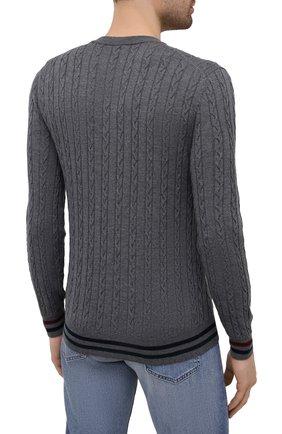 Мужской шерстяной джемпер CANALI серого цвета, арт. C0811/MK00996 | Фото 4