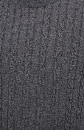 Мужской шерстяной джемпер CANALI серого цвета, арт. C0811/MK00996 | Фото 5