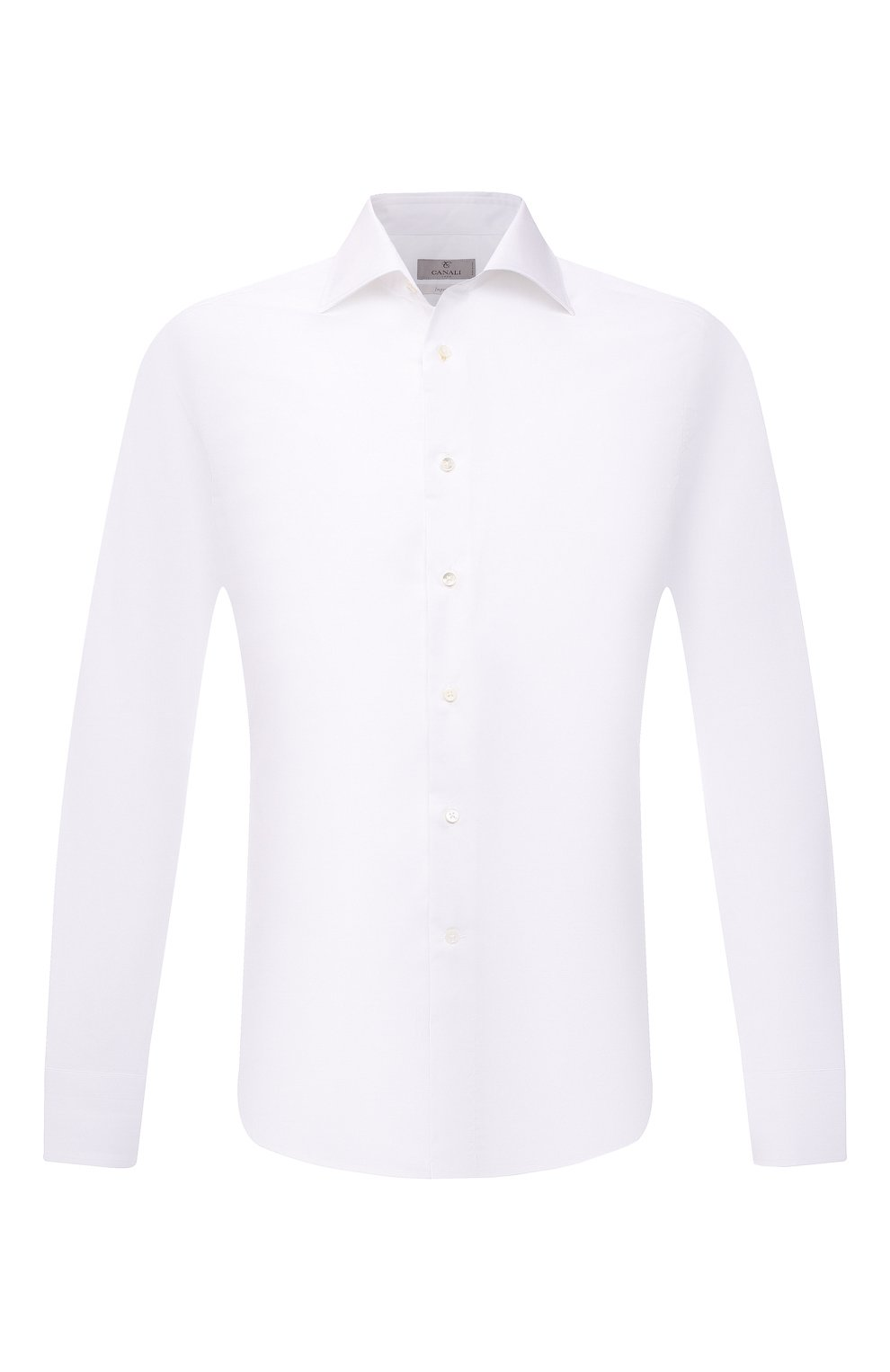Мужская хлопковая сорочка CANALI белого цвета, арт. NX05/GR01599 | Фото 1