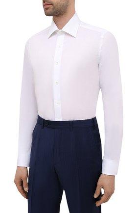 Мужская хлопковая сорочка CANALI белого цвета, арт. NX05/GR01599 | Фото 3
