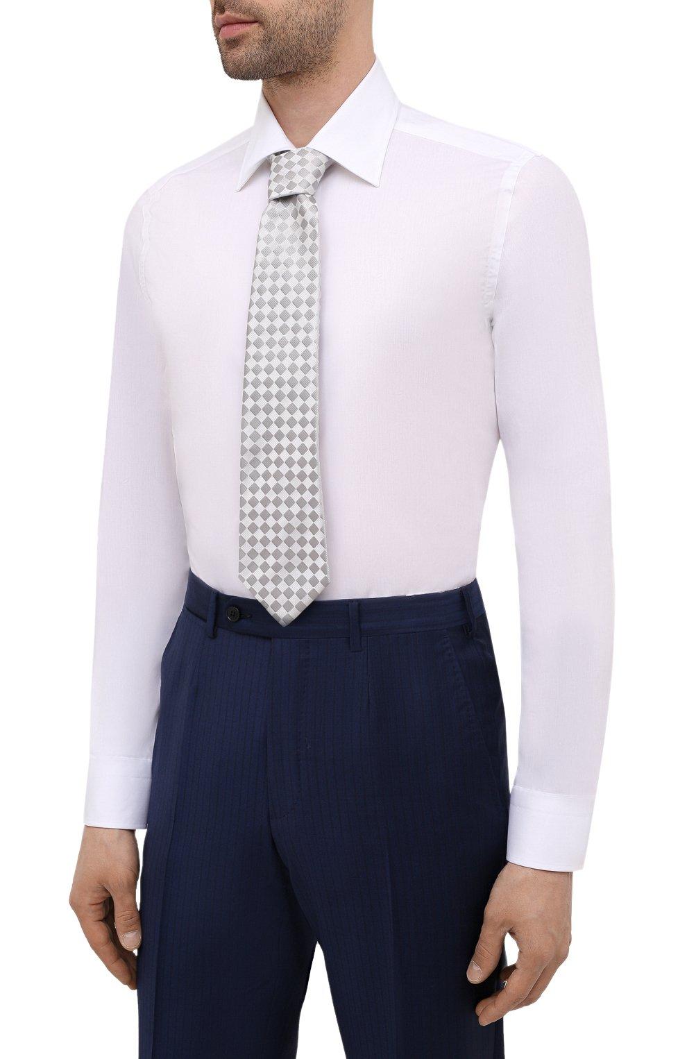 Мужская хлопковая сорочка CANALI белого цвета, арт. NX05/GR01599 | Фото 4