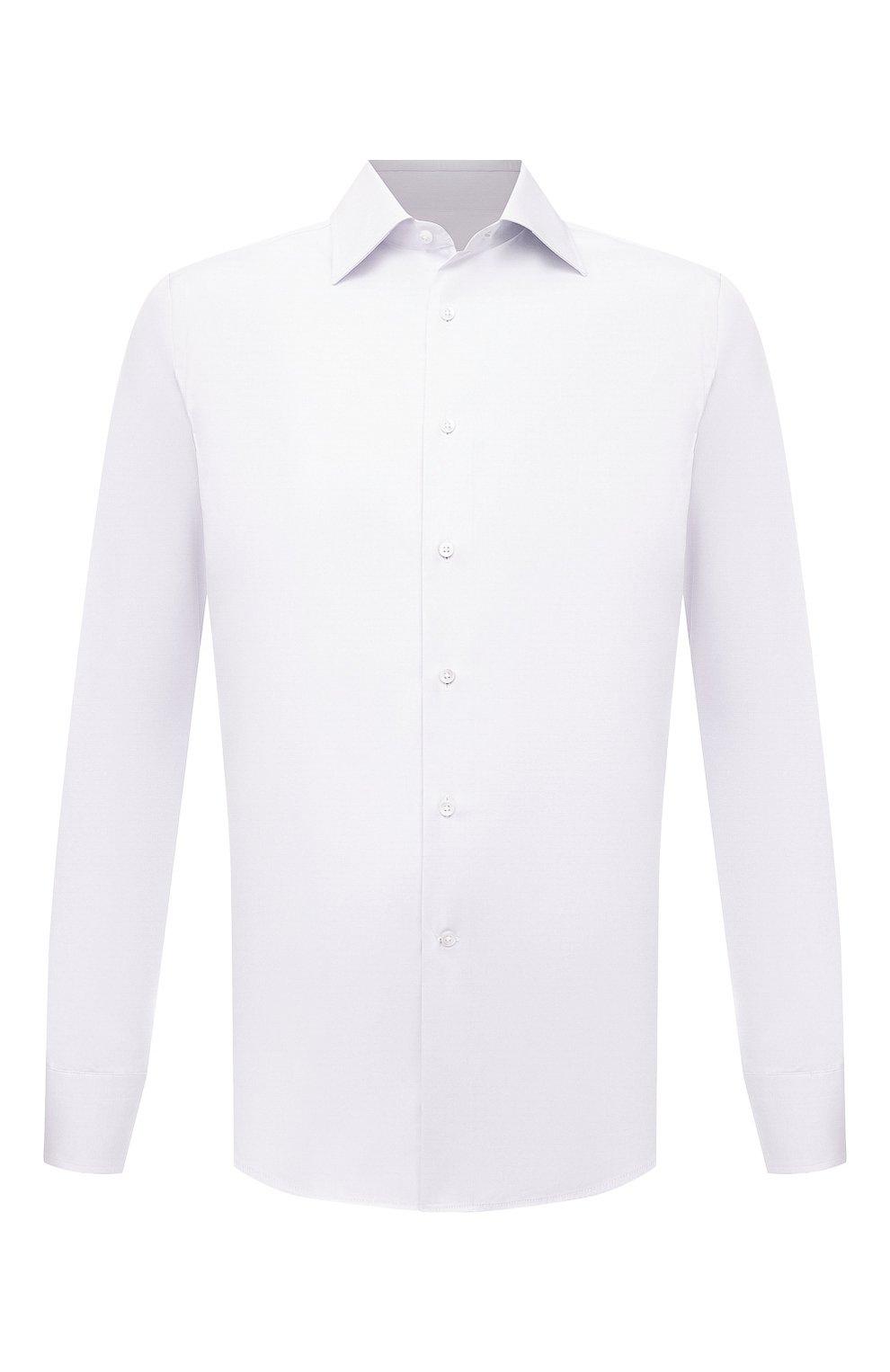 Мужская хлопковая сорочка CANALI белого цвета, арт. X05/GA01243 | Фото 1