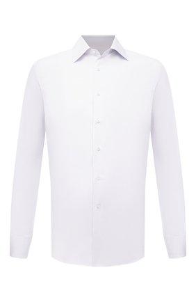 Мужская хлопковая сорочка CANALI белого цвета, арт. X05/GA01243 | Фото 1 (Длина (для топов): Стандартные; Рукава: Длинные; Материал внешний: Хлопок; Случай: Формальный; Рубашки М: Regular Fit)