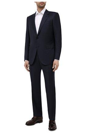 Мужская хлопковая сорочка CANALI белого цвета, арт. X05/GA01243 | Фото 2 (Длина (для топов): Стандартные; Рукава: Длинные; Материал внешний: Хлопок; Случай: Формальный; Рубашки М: Regular Fit)