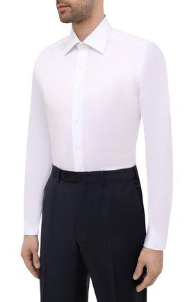 Мужская хлопковая сорочка CANALI белого цвета, арт. X05/GA01243 | Фото 3