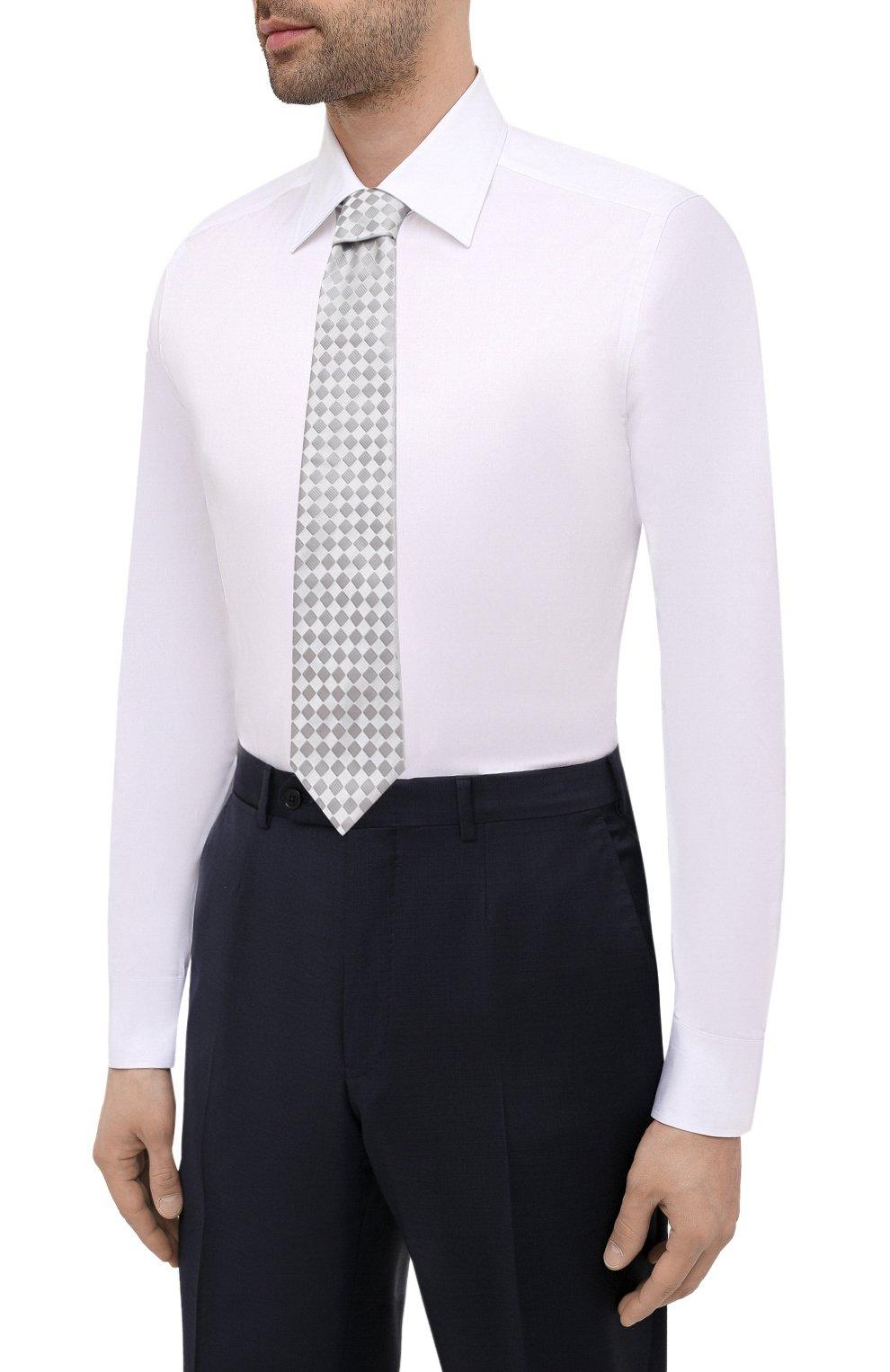 Мужская хлопковая сорочка CANALI белого цвета, арт. X05/GA01243 | Фото 4