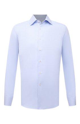 Мужская хлопковая сорочка CANALI голубого цвета, арт. X05/GA01243 | Фото 1