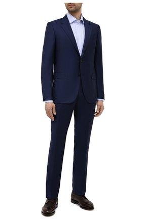 Мужская хлопковая сорочка CANALI голубого цвета, арт. X05/GA01243 | Фото 2