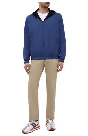 Мужской двусторонний бомбер LORO PIANA синего цвета, арт. FAL4469 | Фото 2 (Материал внешний: Синтетический материал; Материал утеплителя: Шерсть; Стили: Кэжуэл; Принт: Без принта; Кросс-КТ: Куртка; Длина (верхняя одежда): Короткие; Рукава: Длинные)
