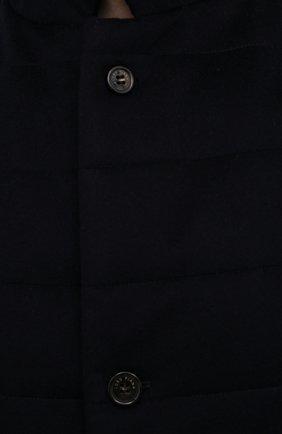 Мужской кашемировый жилет LORO PIANA темно-синего цвета, арт. FAL8947   Фото 5 (Кросс-КТ: Куртка; Материал внешний: Шерсть, Кашемир; Материал утеплителя: Шерсть; Длина (верхняя одежда): Короткие)