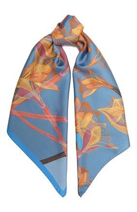 Женский шелковый платок amaryllis RADICAL CHIC голубого цвета, арт. 441762.07.02   Фото 1