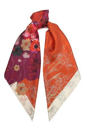 Женский шелковый платок caprice RADICAL CHIC оранжевого цвета, арт. 2047.07.02.MM   Фото 1
