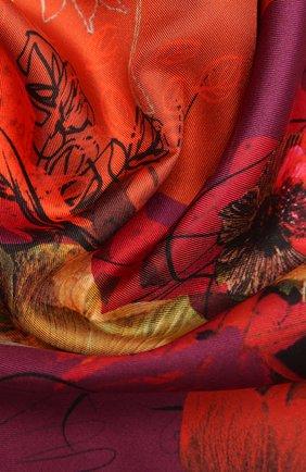 Женский шелковый платок caprice RADICAL CHIC оранжевого цвета, арт. 2047.07.02.MM   Фото 2