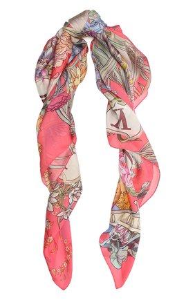 Женский шелковый платок flower clock RADICAL CHIC розового цвета, арт. 570376.23.03   Фото 1