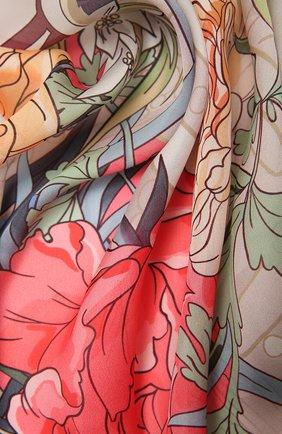 Женский шелковый платок flower clock RADICAL CHIC розового цвета, арт. 570376.23.03   Фото 2