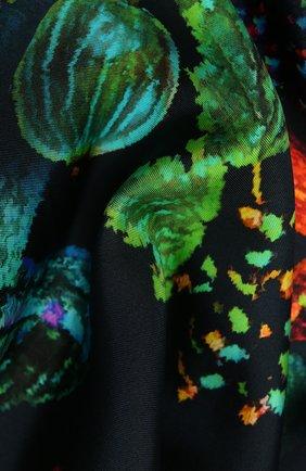 Женский шелковый платок lumоs RADICAL CHIC черного цвета, арт. 562221.07.02   Фото 2