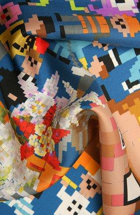 Женский шелковый платок pixel RADICAL CHIC разноцветного цвета, арт. 570072.07.02   Фото 2