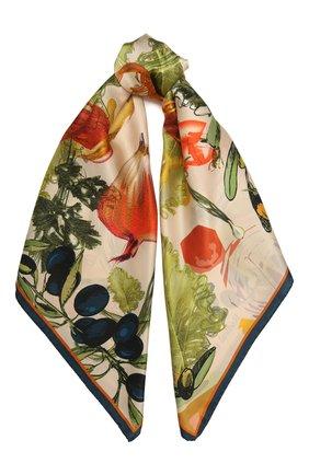 Женский шелковый платок lettuce RADICAL CHIC зеленого цвета, арт. 9468.09.02.ММ   Фото 1