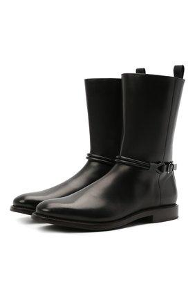 Женские кожаные сапоги BRUNELLO CUCINELLI черного цвета, арт. MZPRC2007P | Фото 1 (Подошва: Плоская; Материал внутренний: Натуральная кожа; Каблук высота: Низкий; Женское Кросс-КТ: Без шнуровки-ботинки; Каблук тип: Устойчивый)