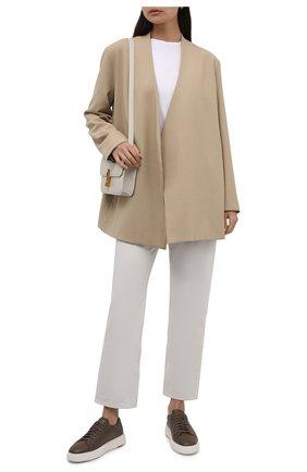 Женские кожаные кеды SANTONI хаки цвета, арт. WBCD60853BARRAYLT20 | Фото 2