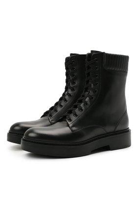 Женские кожаные ботинки SANTONI черного цвета, арт. WTHW59569SM0NU0RN01 | Фото 1