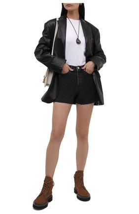 Женские замшевые ботинки PROENZA SCHOULER коричневого цвета, арт. PS35113A/14022 | Фото 2