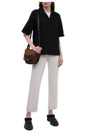 Женские кожаные сабо с меховой отделкой PROENZA SCHOULER черного цвета, арт. PS35280D/12145 | Фото 2