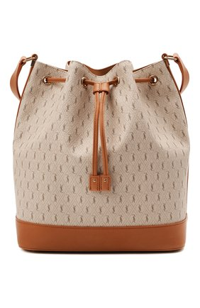 Женская сумка le monogramme SAINT LAURENT бежевого цвета, арт. 568606/2UY1W | Фото 1 (Сумки-технические: Сумки через плечо; Ремень/цепочка: На ремешке; Размер: medium; Материал: Экокожа)