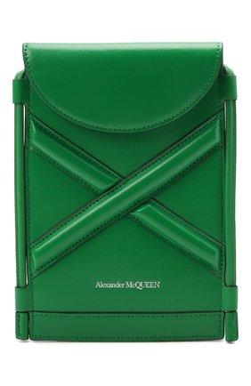 Женская сумка curve bucket micro ALEXANDER MCQUEEN зеленого цвета, арт. 666362/1YB49   Фото 1