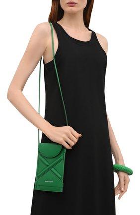 Женская сумка curve bucket micro ALEXANDER MCQUEEN зеленого цвета, арт. 666362/1YB49   Фото 2