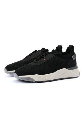 Женские комбинированные кроссовки SANTONI черного цвета, арт. WBI060790BGRNTSLN01 | Фото 1