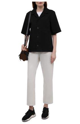 Женские комбинированные кроссовки SANTONI черного цвета, арт. WBI060790BGRNTSLN01 | Фото 2