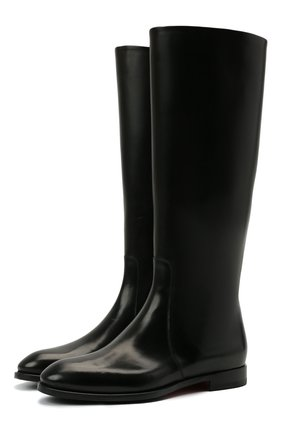 Женские кожаные сапоги SANTONI черного цвета, арт. WSRV56856BJ4NBCKN01 | Фото 1
