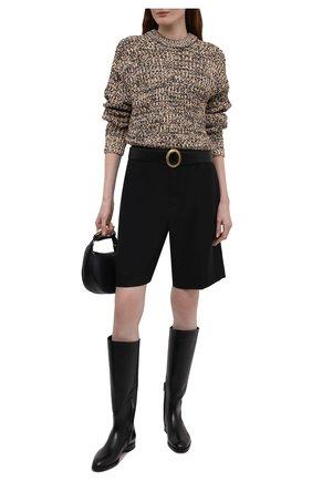 Женские кожаные сапоги SANTONI черного цвета, арт. WSRV56856BJ4NBCKN01 | Фото 2