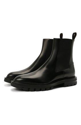 Женские кожаные ботинки SANTONI черного цвета, арт. WTCU59648HL1NLESN01 | Фото 1