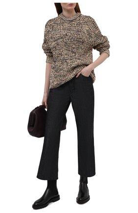Женские кожаные ботинки SANTONI черного цвета, арт. WTCU59648HL1NLESN01 | Фото 2