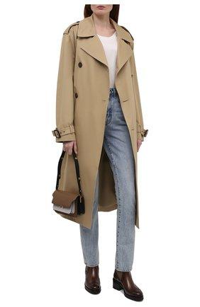 Женские кожаные полусапоги SANTONI коричневого цвета, арт. WTDY59557SM1NWL0C45 | Фото 2