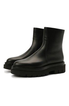 Женские кожаные ботинки SANTONI черного цвета, арт. WTEI58956G0MNUDYN01 | Фото 1