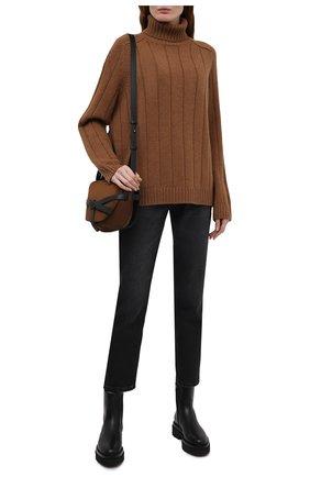 Женские кожаные ботинки SANTONI черного цвета, арт. WTEI58956G0MNUDYN01 | Фото 2