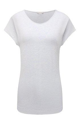 Женская футболка из вискозы HANRO светло-голубого цвета, арт. 076237 | Фото 1