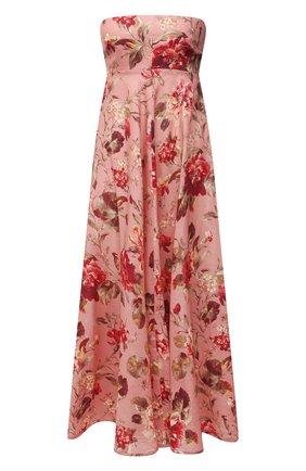 Женское льняное платье ZIMMERMANN розового цвета, арт. 1982DCAS   Фото 1