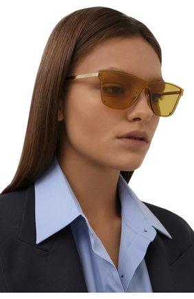 Женские солнцезащитные очки SAINT LAURENT желтого цвета, арт. CLASSIC 11 M | Фото 2