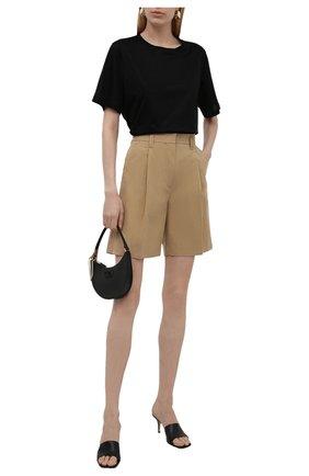 Женские хлопковые шорты LOW CLASSIC бежевого цвета, арт. L0W21SS_SR06BE | Фото 2 (Материал внешний: Синтетический материал, Хлопок; Длина Ж (юбки, платья, шорты): Мини; Стили: Кэжуэл; Женское Кросс-КТ: Шорты-одежда)