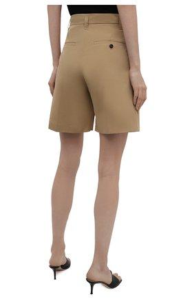 Женские хлопковые шорты LOW CLASSIC бежевого цвета, арт. L0W21SS_SR06BE   Фото 3 (Женское Кросс-КТ: Шорты-одежда; Длина Ж (юбки, платья, шорты): Мини; Материал внешний: Синтетический материал, Хлопок; Стили: Кэжуэл)