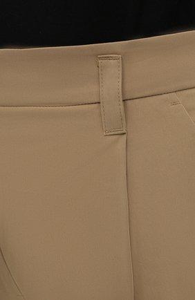 Женские хлопковые шорты LOW CLASSIC бежевого цвета, арт. L0W21SS_SR06BE   Фото 4 (Женское Кросс-КТ: Шорты-одежда; Длина Ж (юбки, платья, шорты): Мини; Материал внешний: Синтетический материал, Хлопок; Стили: Кэжуэл)