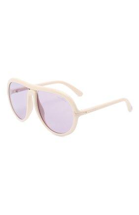 Женские солнцезащитные очки TOM FORD кремвого цвета, арт. TF768 | Фото 1 (Тип очков: С/з; Очки форма: D-форма)